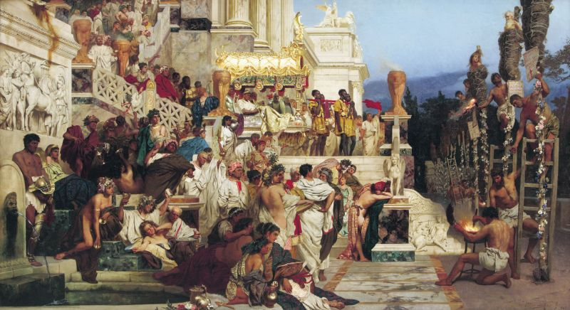 Henryk Siemiradzki: Die lebenden Fackeln des Nero
